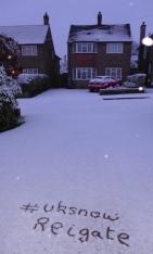 Reigate snow 17 Jan