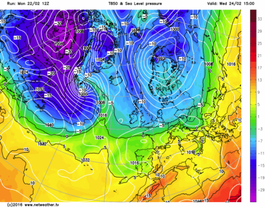 Upper airmass temps Feb 25