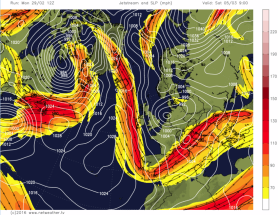 weekend cold northerly jetstream