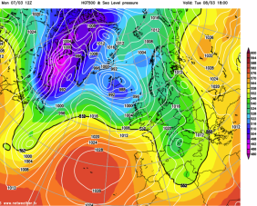 develops LOW to S of UK