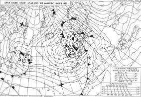 October 1987 storm fax chart