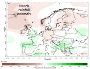 Rainfall anomaly March